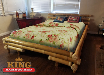 Bamboo Bed Frame Queen  Kenji. Availability: In Stock