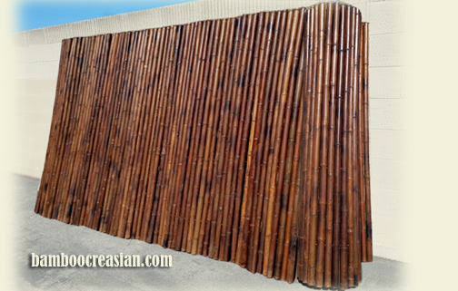 bamboo fencing carbonized after finished by marine sealer the color will become darker itu0027s can last 15 years or more