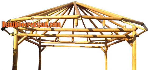 Bamboo Tiki Bar Kit U Shape 14 Bamboo Tiki Bar