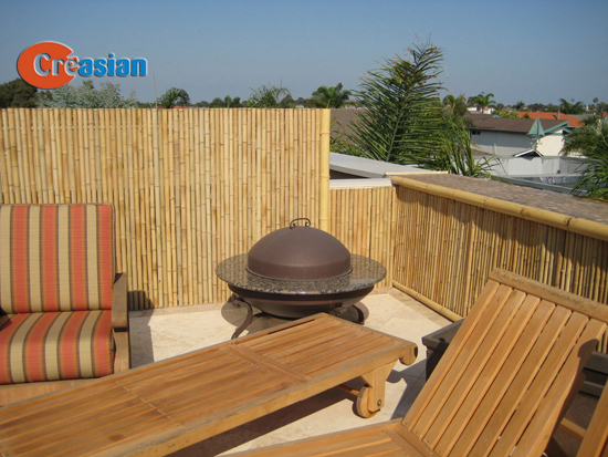 Bamboo fencing bamboo roll fences for Low balcony wall
