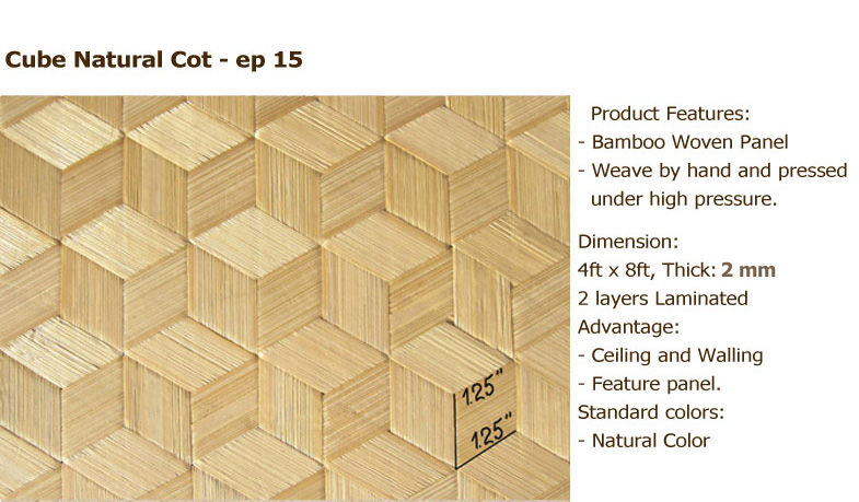 Bamboo Panel: 5mm Thickness U0026 3 Mm Width Of Each Slat / 4ft X8ft/ Color:  Carbonized