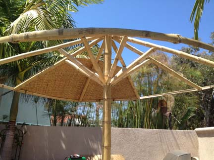 Asian Thatch Palapa Cover Solid Bamboo