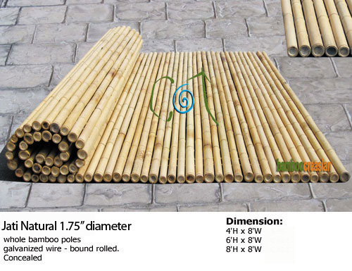 U003du003dBamboo Fencing(rolled Bamboo Cane Panel)  Privacy Fence $79 Durable Fence  Bamboo Natural~easy Install, More Beautiful Than Classical Wood Fences  Bamboo ...